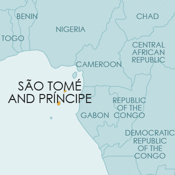 São Tomé And Principe (St Thomas And Prince's Islands ... on djibouti map, senegal map, rwanda map, namibia map, swaziland map, cape of good hope map, kenya map, nubian desert map, mauritius map, burkina faso map, saint kitts and nevis map, togo map, sierra leone map, lake tanganyika map, atlas mountains map, cape verde map, seychelles map, saudi arabia map, mount kilimanjaro map, falkland islands malvinas map,