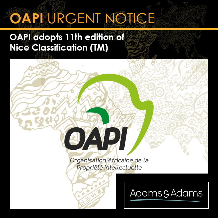 OAPI adopts 11th edition of the Nice Classification for the registration of trade marks