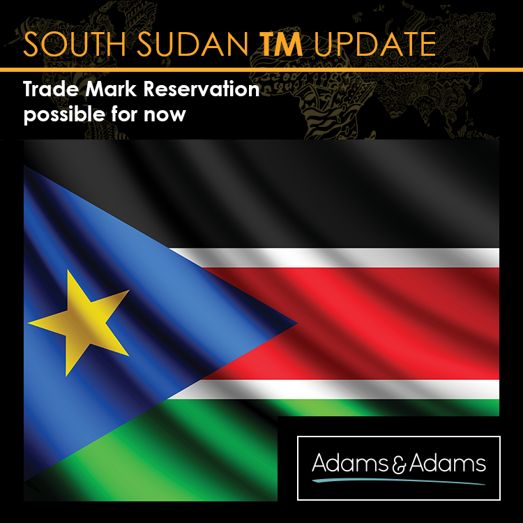 SOUTH SUDAN   TM RESERVATION POSSIBLE FOR NOW
