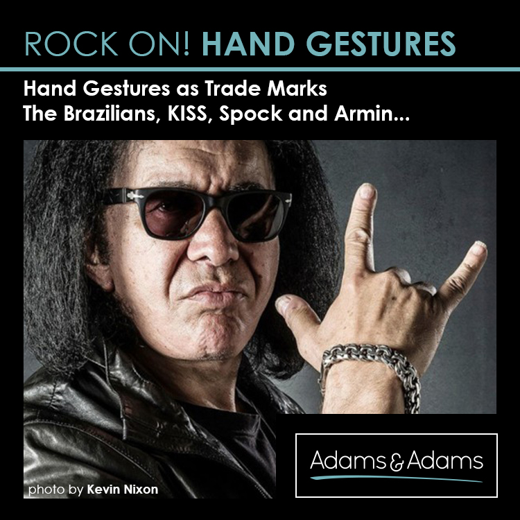 ROCK ON! HAND GESTURES AS TRADE MARKS