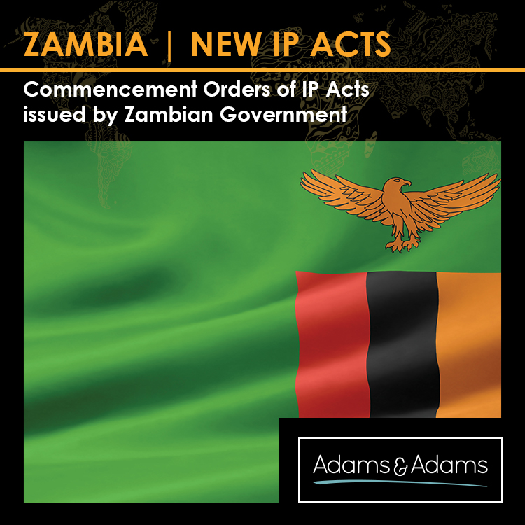 ZAMBIA | COMMENCEMENT OF NEW IP ACTS