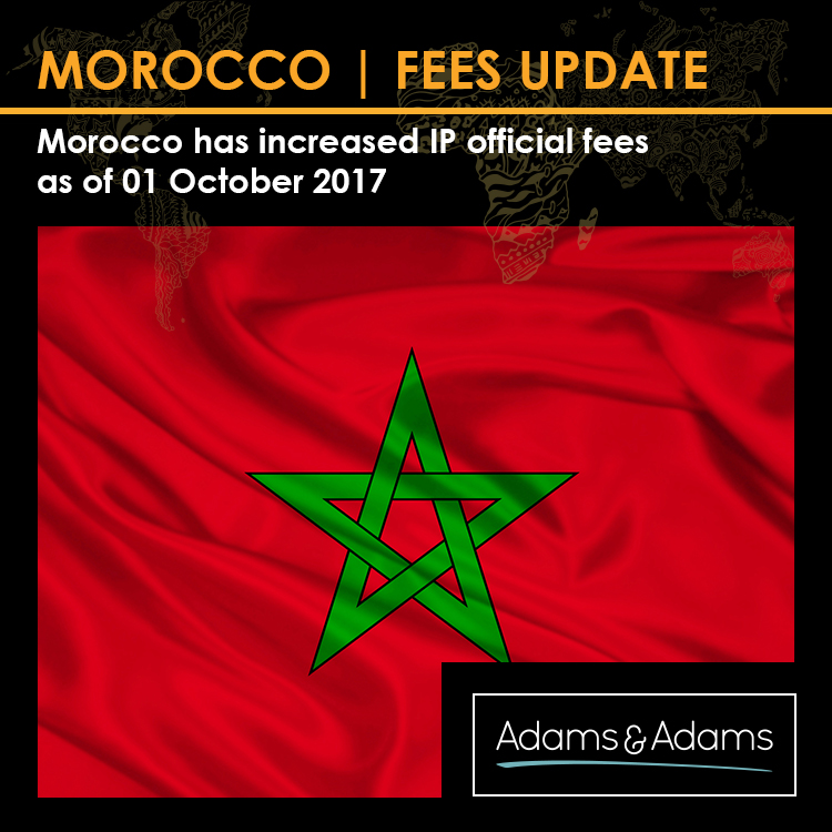 MOROCCO | INCREASE IN IP OFFICIAL FEES