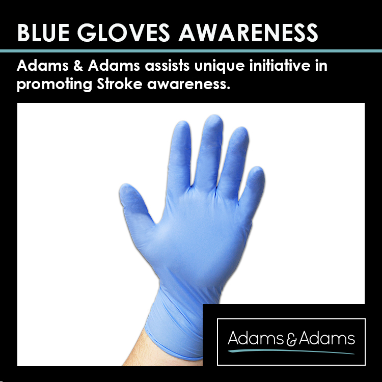BLUE GLOVES FOR STROKE AWARENESS