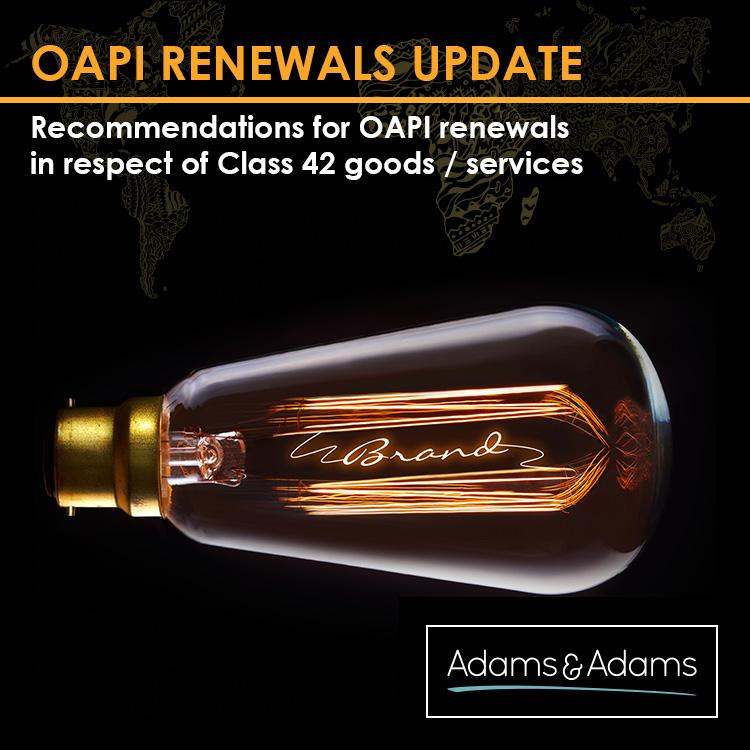 OAPI | URGENT RENEWAL RECOMMENDATIONS