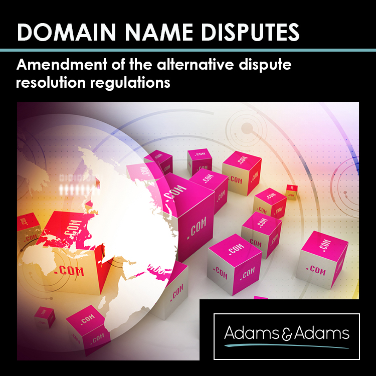 DOMAIN NAME DISPUTES | AMENDMENTS UPDATE
