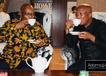 Jacob Zuma and Julius Malema Tea Party